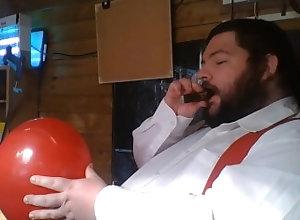 kink;balloon;pop;cigar;tubbs,Solo Male;Gay;Feet balloon game...