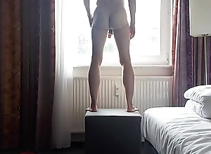 Amateur (Gay);Striptease (Gay) stip at the window