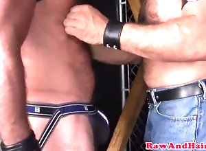 hairyandraw;gay;bareback;silver;bear;leather;fetish;cum;seeding;masturbation;nipple;hairy;kissing;blowjob;bondage,Bareback;Gay;Mature;Cumshot Hairy silver bear...