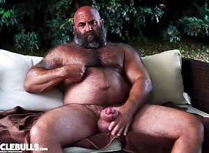 big-cock;muscle-bear;huge-cock;fat-cock;huge-balls;thick-bear;massive;beefy;bodybuilder;powerlifter;furry;beard;musclebear;jerking-off;stroking;cum,Muscle;Solo Male;Big Dick;Gay;Bear;Handjob;Uncut;Jock;Tattooed Men TWO BIG MUSCLE...