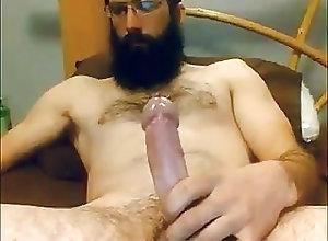 Amateur (Gay);Daddy (Gay);Handjob (Gay);Masturbation (Gay);Webcam (Gay) Bearded Str8...