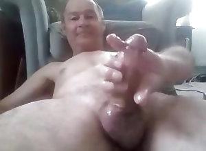 Amateur (Gay);Daddies (Gay);Masturbation (Gay);HD Gays grandpa cum on...