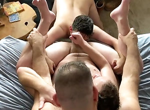 big-cock;daddy;share;threeway;threesome;hairy;bush;male-pubes;chest-hair;beard;old-and-young;dilf;hairy-cock;verbal,Bareback;Daddy;Blowjob;Big Dick;Group;Gay;Bear;Amateur Introducing my...