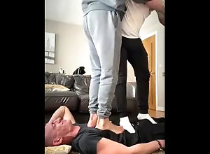 trample;trampling;body-crush;foot-crush;trample-fetish;cock-trampling;face-trample;master;alpha-male;foot-domination;foot-s;foot-worship;stinky-socks;sweaty-feet;full-weight-trample,Group;Gay;Feet CHAV CHARLIE GETS...