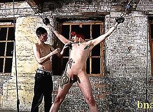 shaved,bondage,domination,fetish,handjob,masturbation,handjob,masturbation,gay hunk treated hard...