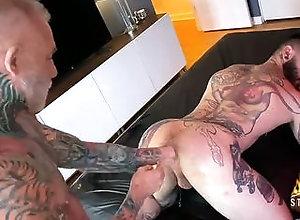 anal,ass,bareback,extreme,fisting,naked,brunette,masturbation,tattoo,bareback,gay Teddy Bryce gets...