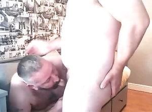 daddy;blowjob;son;hairy,Daddy;Blowjob;Gay;Bear;Amateur;Step Fantasy Sucking off the...