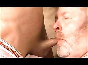 Blowjob (Gay);Handjob (Gay);Old+Young (Gay);Anal (Gay) old bearded man...