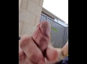 cumshot;jerking-off;amature;big-cock;cock;dick;outside;masturbation,Solo Male;Gay Jerking off...