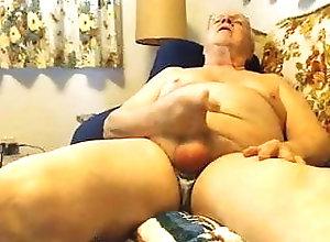 Daddy (Gay);Handjob (Gay);Masturbation (Gay);Gay Grandpa (Gay);Gay Webcam (Gay);Gay Cam (Gay) grandpa stroke on...