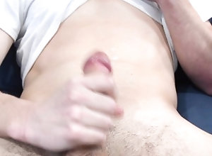 masturbate;white-cock;white-dick;big-dick;stroking-cock,Solo Male;Gay Jerking Off While...