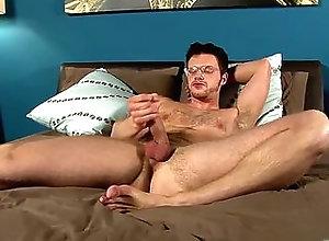 big cock,naked,bed,brunette,glasses,hairy,handjob,masturbation,undress,blowjob,gay Brian Bonds