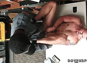 blowjob,uniform,black on white,cop,police,gay Thailand gay boy...